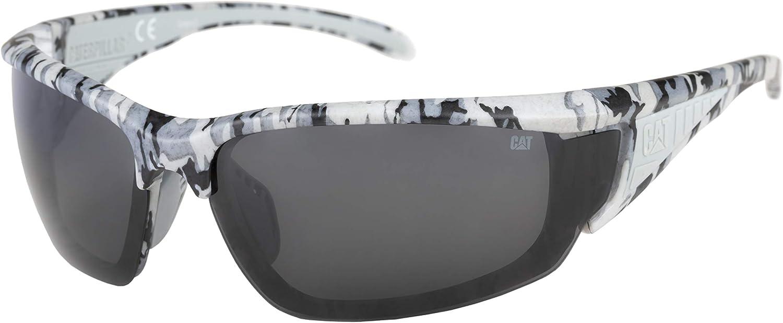 Caterpillar Men's Stator Polarized Sunglasses Rectangular