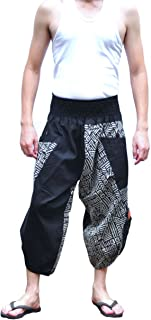 Men's Japanese Style Pants One Size Black Tradition Stone