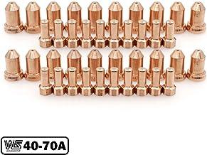 نوک الکترود پلاسما 40-70A برای Everlast Innotec IPT-80 Torch 40-PKG (1.0mm 0.039 '' و 1.2mm 0.047 '')