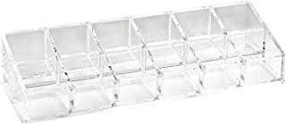 Isaac Jacobs Clear Acrylic 12-Compartment Nail Polish Holder