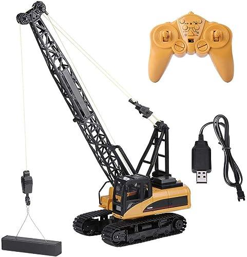 Dilwe Turmkran Spielzeug, 1 14 Baustellenfahrzeuge turmkran RC Electric Truck Remote Control Model Tower Crane Engineering Vehicle