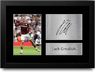 HWC Trading FR Jack Grealish Aston Villa Gifts Gedrukt Gesigneerd Autograph Foto voor fans en supporters - A4 ingelijst