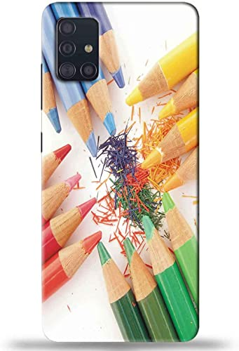 NDCOM Pencil Printed Hard Mobile Back Cover Case For Samsung Galaxy M51
