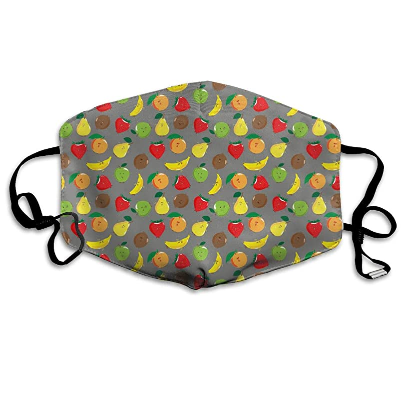 RHUO Apples, Strawberries and Other Fruits Dust-Proof Washable Mask - Reusable Mask - Suitable for Men and Women's Masks lprzecbi284015