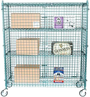 NSF Mobile Green Wire Security Cage Kit - 18 inch x 60 inch x 69 inch