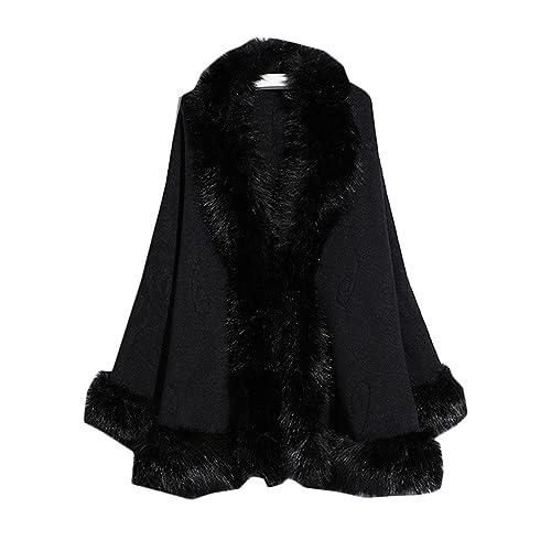 c54f707af3b Kelaixiang Faux Fox Fur Shawls Jackets Plus Size Coats Wraps Winter Scarves