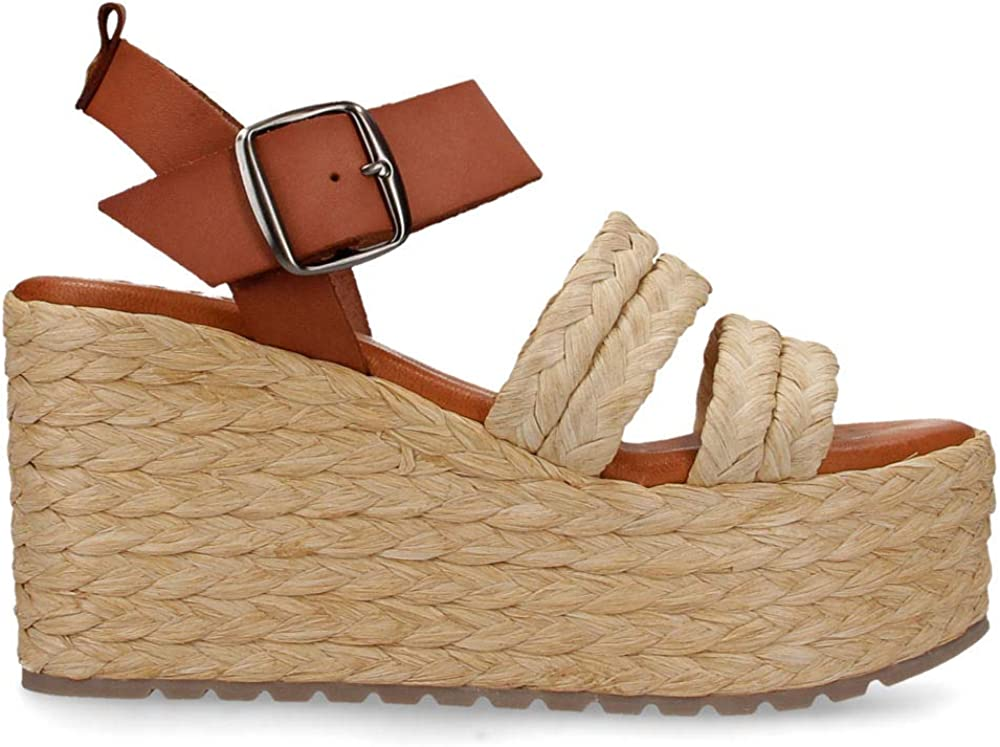 Musse & Cloud Women's Espadrille with Wedge Heeled Sandal