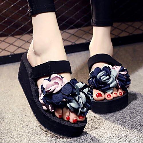 Aa-nvliangxie Sandales femme chaussons sont les nouveaux vêteHommests d'été porter ils portent des bas épais pieds antidérapant en caoutchouc chaussures de plage sandales et des pistes de fond