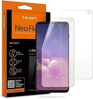 شاشة حماية اتش دي لموبايل سامسونج S10 Neo Flex من سبايجن 605FL25996 - قطعتين