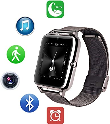ZEERKEER Smart Watch Fitness Tracker with Blood Pressure Long-Life Battery Bluetooth Smartwatch with Calls