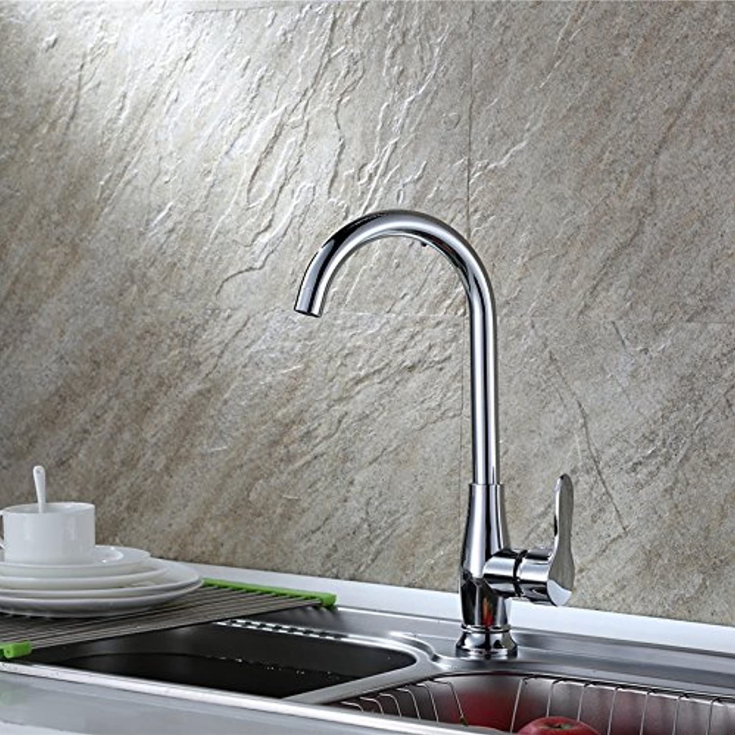 Bathroom Sink Basin Lever Mixer Tap Side Basin Cold and Hot Water Faucet Cold and Hot Water Faucet Single-Hole Kitchen redary Mixed Water Dishwash Basin