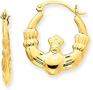 Best claddagh earrings gold Reviews