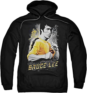Bruce Lee Yellow Dragon Unisex Adult Pull-Over Hoodie for Men and Women