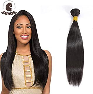 Liddy Straight Hair Brazilian Virgin Human Straight Hair Bundles 100% Unprocessed Virgin Human bundles straight Extension Hair Weave Weft Natural Color (100+/-5g)/Bundle Can be Dyed and Bleached(14