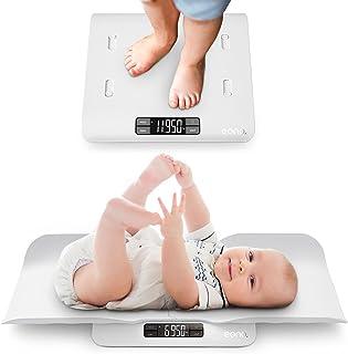 Amazon Brand -Eono Babyweegschaal met Veilige en Comfortabele Tray, 2 in 1 Functie, Kan Ook Dienen als Peuterweegschaal, ...