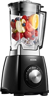 AICOOK Professional Countertop Blender for Shakes and Smoothies, 1450W High Speed Smoothie Blender for Ice Crushing Frozen Fruits, 4-Auto-iQ Programs, 72OZ Dishwasher Safe Jar (NY-8668MJA)