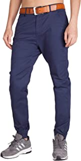 ITALY MORN Men's Chino Jogger Pants Casual Slim Fit Stretch Sweatpants