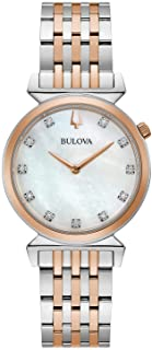 ساعة بولوفا 98P192 كلاسيك ريجاتا لؤلؤية دايموند للنساء