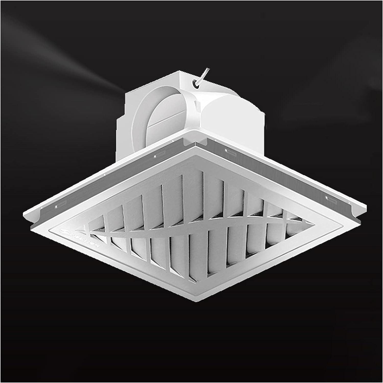 Ventilador extractor Ventilador integrado de ventilación del conducto de techo 30 × 3 0CM Ventilador de escape de techo especial para un refuerzo de aluminio con válvula de retención, bajo ruido y 11.