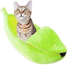 YUCHAO Creative Kennel Banana Shape Cat Litter Winter Warm Pet Nest, Size:L(Yellow) (Color : Green)