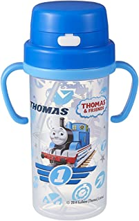 Thomas the Tank Engine Clear Thermos with Straw and Cup Combination (Japan Import)