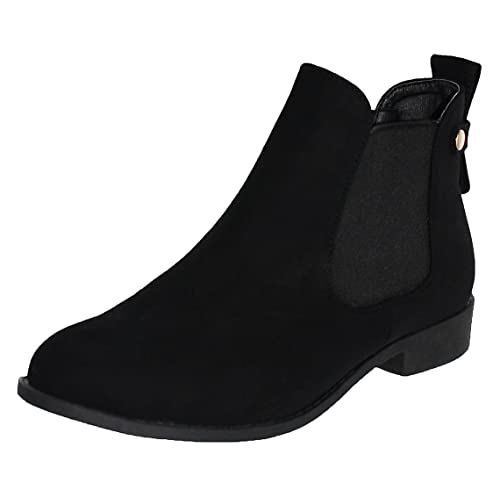 ad161c927eb2 Top Moda Women s La-5 Slip-On Low Heel Ankle Boot