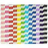 keriber 300pezzi biodegradabili cannucce di carta potabile stripe paglia con bulk forniture cannucce decorazioni per matrimoni e feste, 12colori