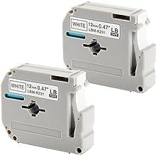 Label Tape MK231 MK 231s M231 0.47 Inch x 26.3 Feet(12mmx 8m),Black on White Label Tapes,Compatible for Brother P-Touch Label Makers PTM95 PT90 PT70BM PT65 PT80 PT70SR