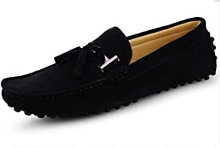 HAPPYSHOP(TM Suede Loafers for Men Slip On Dress Shoes Moccasin Slippers Tassel Loafer Men