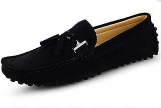 HAPPYSHOP(TM Suede Loafers for Men Slip On Dress Shoes Moccasin Slippers Tassel Loafer Men Driving Shoes