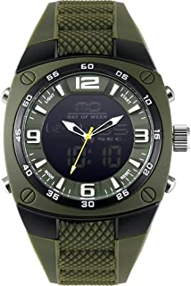 Men's Sports Analog Quartz Watch Dual Display Waterproof Digital Watches with LED Backlight relogio Masculino El Movimiento de Los relojes- ArmyGreen