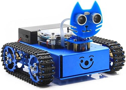 @WENDi KitiBot, Cute DIY Kids Starter Robot Car, Graphical Programming, Tracked Version for STEAM Education