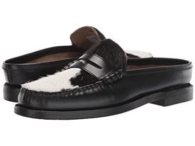 Sebago Dan Clog Cow (Black/White) Women