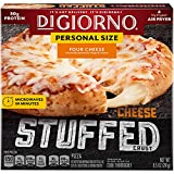 DiGiorno Cheese Stuffed Crust Four Cheese Small Sized Frozen Pizza, 8.5 oz. Box – Quick and Easy Pizza with Hot and Melty Cheese in Every Bite