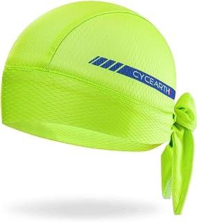bafb738346b0f CYCEARTH Cycling Headscarf Dew Rag Men Skull Caps Hood Cool Head Bandana Hat  Wrap Doo Rag