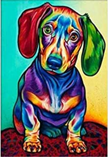 DIY 5D Diamond Painting Paint by Numbers Kits, Colorful Dog, Cats and Kittens Full Drill Rhinestones Crystal Diamond Art