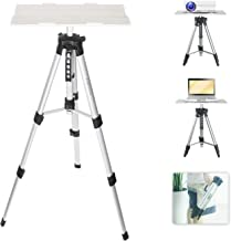 $48 » Vamvo Aluminum Universal Projector Tripod Stand, Adjustable Laptop Stand, Multi-Function Stand, DJ Equipment Holder Mount, Adjustable Height 16'' to 45'' with Tray, Suitable for Home Theater or Stage