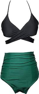 Women's Sexy High Waist Bikini Set Girls Swimsuit Straps Swimwear Two Peice