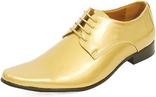 Dobell Homme Chaussures Habillés comptemporaines Vernies dorées dorées