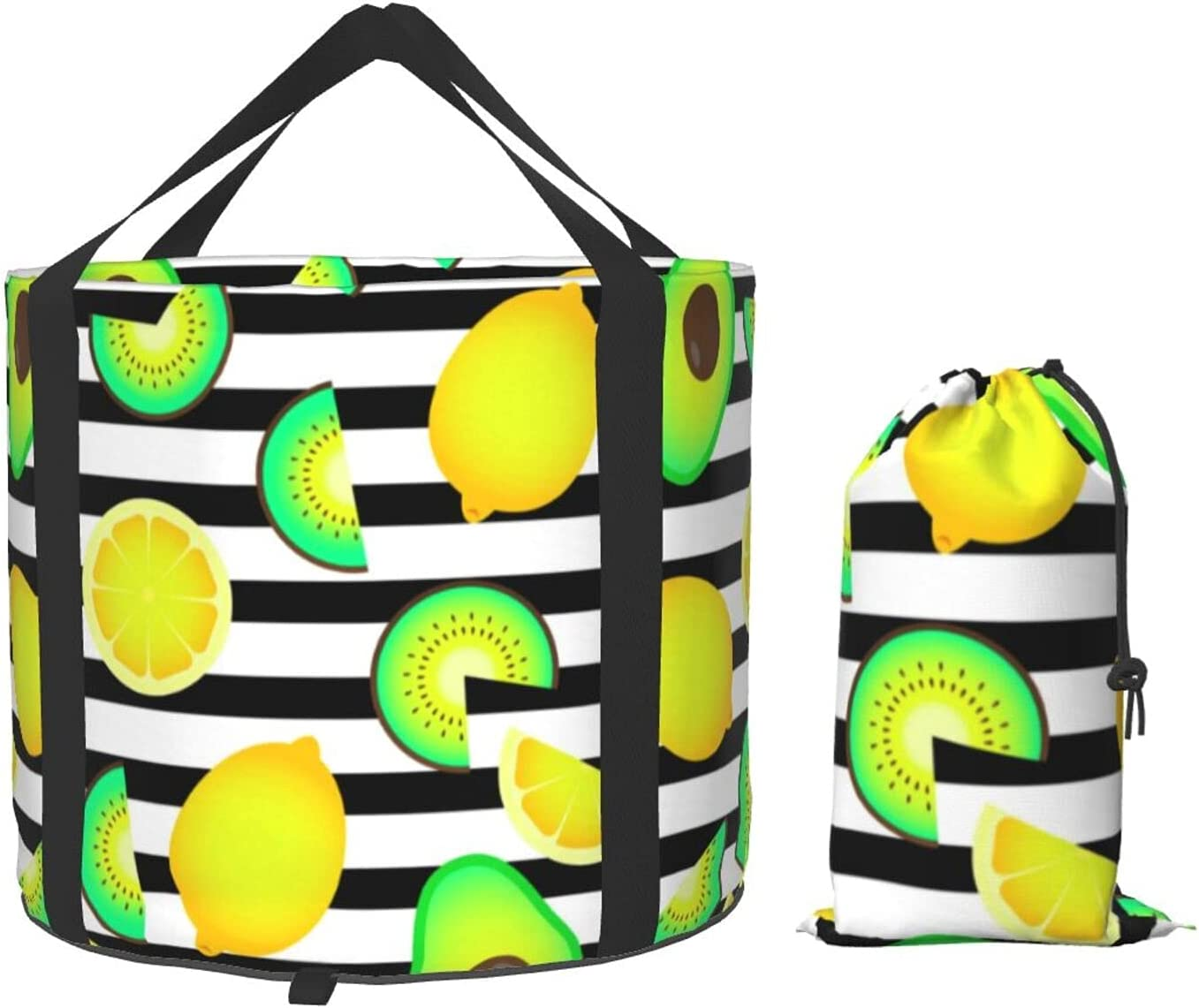 Tropical Fruit Orange Lemon Collapsible Multifunctional P 2021 spring and Recommendation summer new Bucket