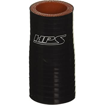 40 PSI Maximum Pressure 4 Length HPS HTSR-350-500-L4-BLK Silicone High Temperature 4-ply Reinforced Reducer Coupler Hose Black 3.5  5 ID