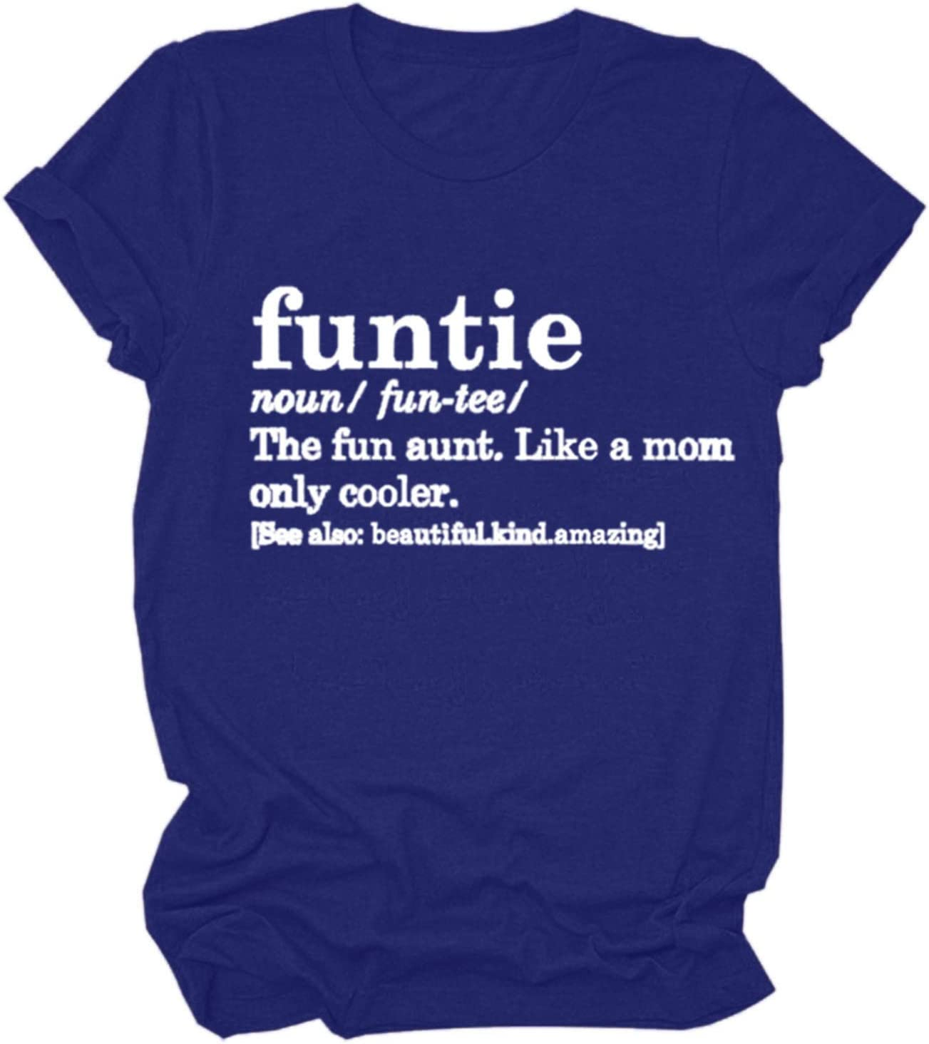 Shan-S Women Tshirts Funny Letter Causal Max 82% OFF Saying T-Shirt Regular discount Printed