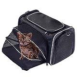 Louvra Capazo del Perro Portador del Perro Bolsa del Perro para Viaje que Se Permite para Aerolínea, Color Rojo, Tamaño M