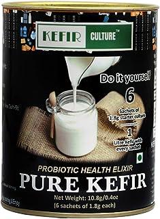 PURE KEFIR CULTURE Starter Kit | 10.8 G |0.4oz | Probiotic Kefir | Builds Immunity & Health |6 Sachets of 1.8 G each |