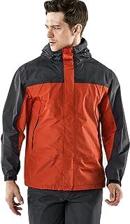 TSLA Men's Rainwear Windbreaker Packable Front-Zip Hood Jacket/Rain Pants/Jacket & Trouser Suit, Multi Sports Hiking Running Lightweight