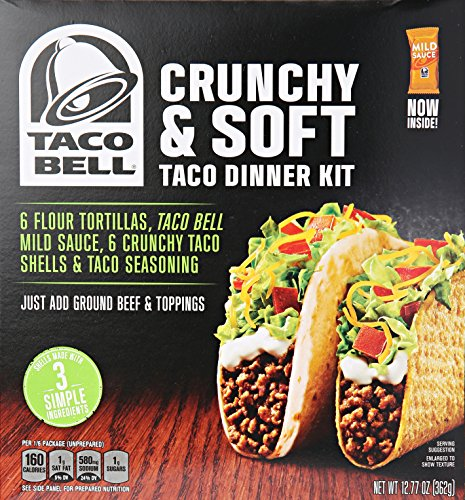 Kraft Grocery Dno Taco Bell Crunch and Soft Kit, 12.77 oz