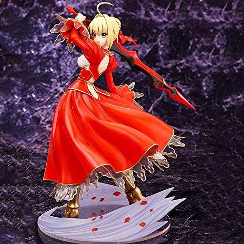 SHUMEISHOUT El nuevo destino/estancia Destino/estancia Seba Nero Tirano Sable Rojo Anime Figura Decoración Estatua Muñeca Modelo Colección Juguete Altura 23cm