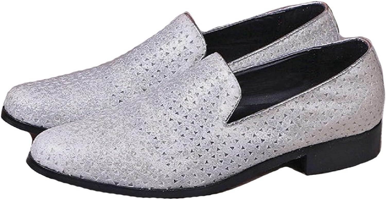 Cover Plus ny mode silver Genuine läder herr Slip on on on Casual Dress Suit skor  köp varumärke