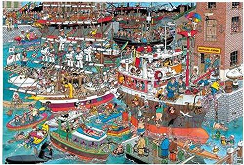 1000 Stukjes Puzzelspeelgoed voor Volwassenen en Kinderen, Geanimeerde Puzzel, Houten Puzzel, Decompressiespeelgoedset-Poort