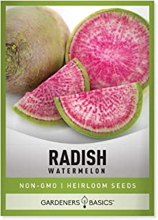 250 Watermelon Radish Seeds Mix Heirloom NON-GMO Open Pollinated Vegetable Garden Seeds